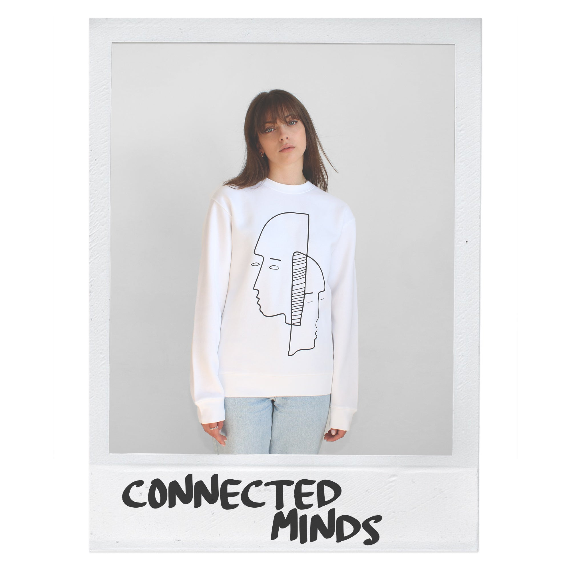 CONNECTED MINDS SWEATER - WHITE