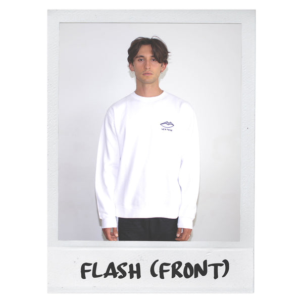 FLASH TATTOO SWEATER - WHITE