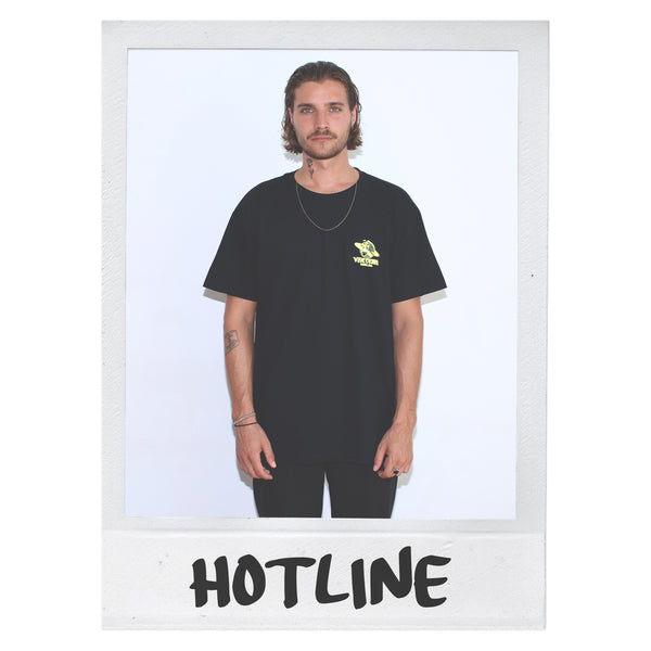 HOTLINE T-SHIRT - BLACK