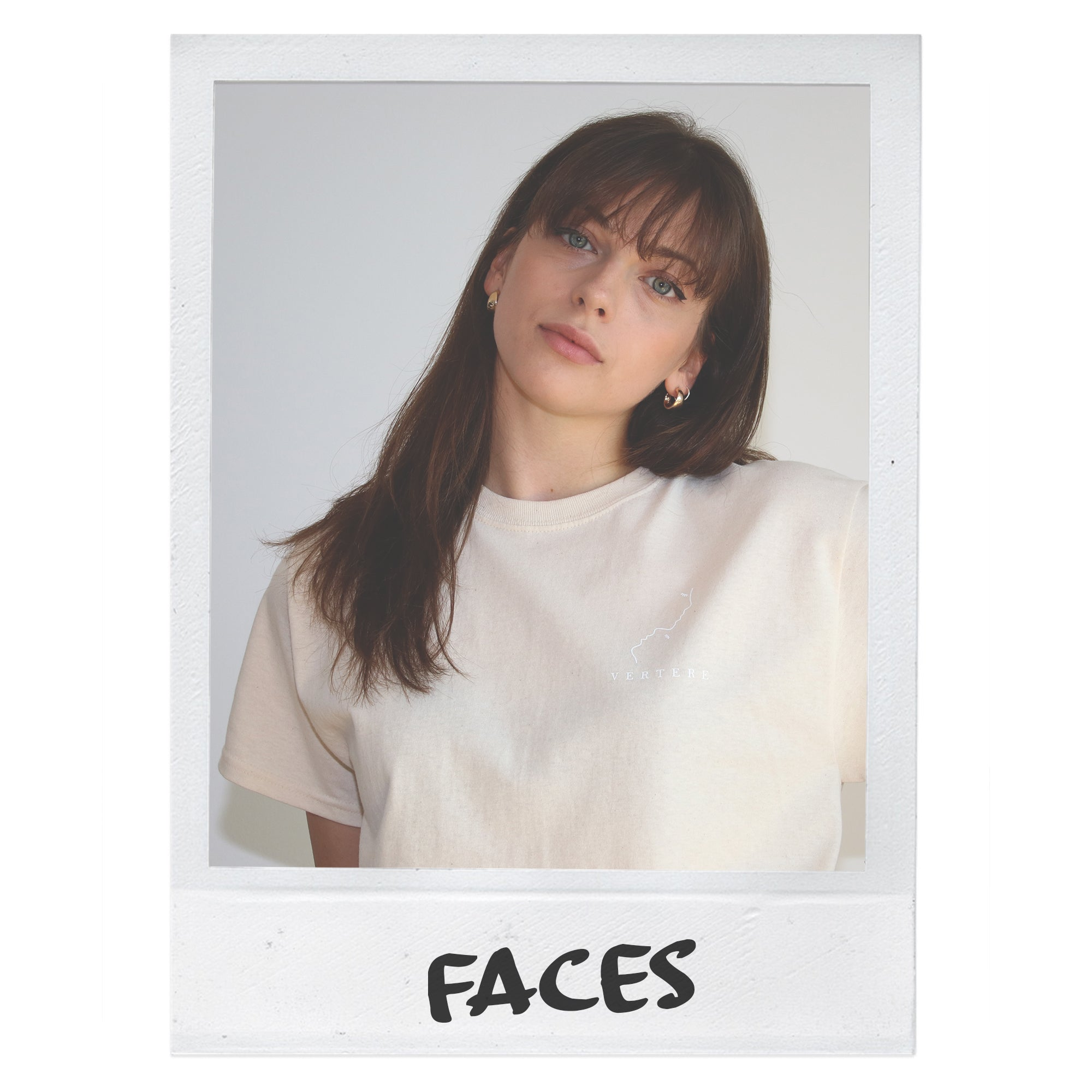 FACES T-SHIRT - VANILLA