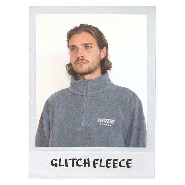 FLEECE ZIP SWEATER GLITCH - GREY