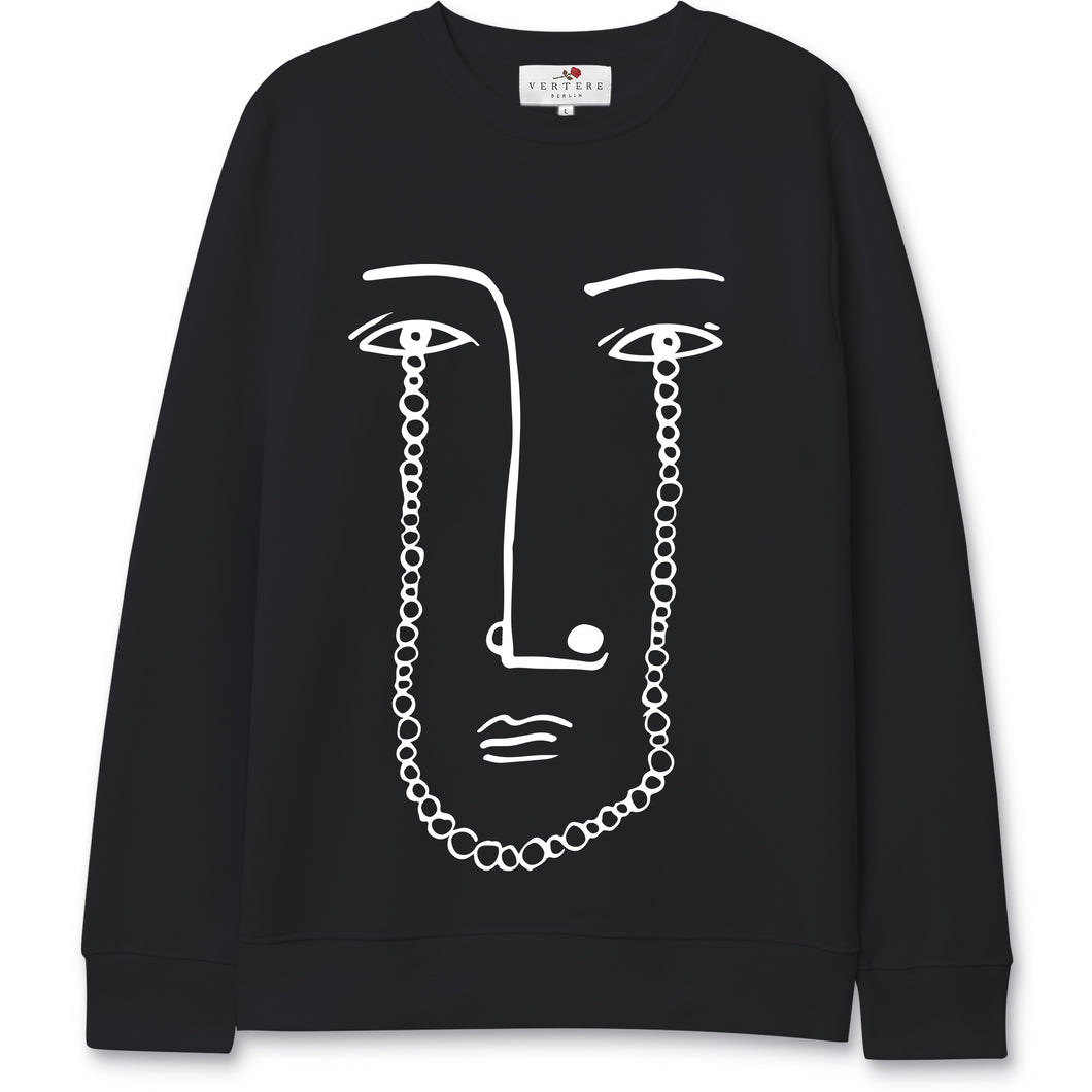 NECKLACE SWEATER - BLACK