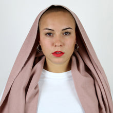 OVERSIZED WOOL SCARF - ROSE