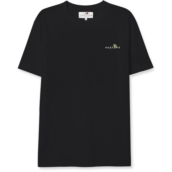 CROSSED ROSE T-SHIRT - BLACK