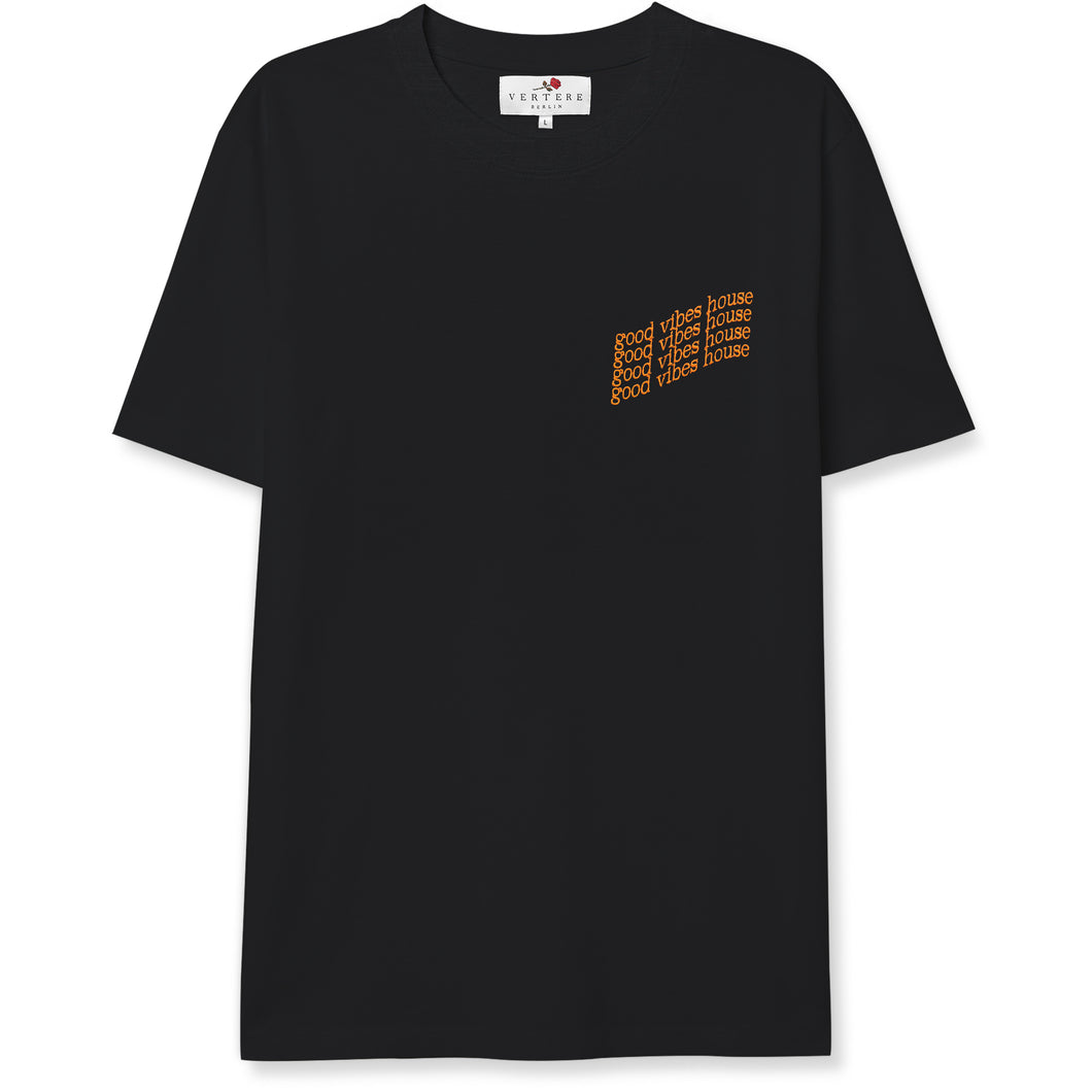 GOOD VIBES HOUSE T-SHIRT - BLACK