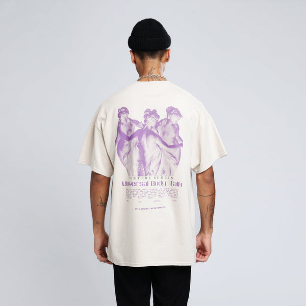 UNIVERSAL BODY TALK T-SHIRT - SAND
