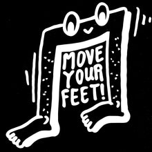 ANDHIM COLLAB T-SHIRT MOVE YOUR FEET - BLACK