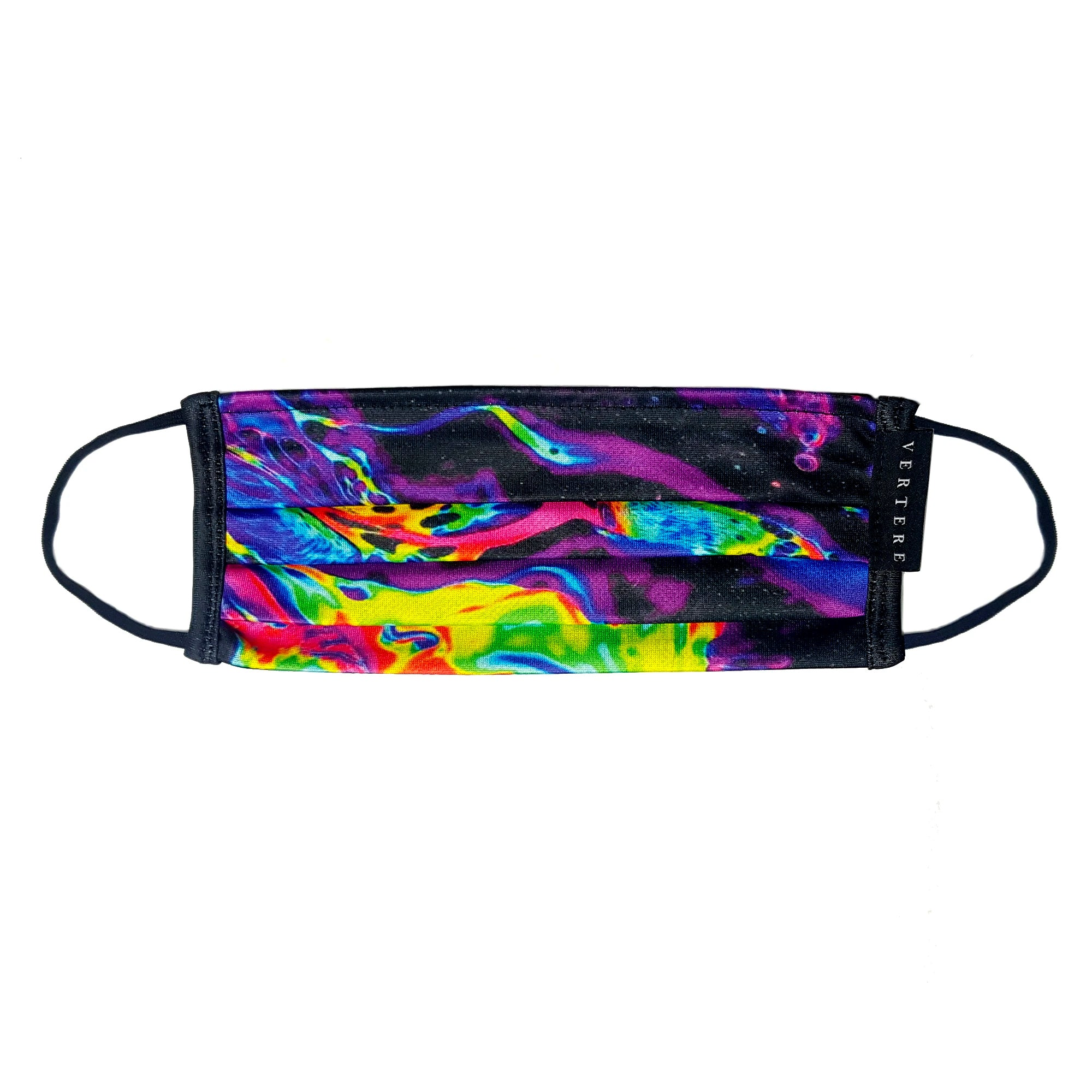ACID PRINT FACE MASK WITH NECKBAND - MULTICOLOR