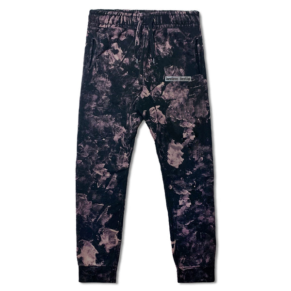 OLD BERLIN TIE DYE JOGGING PANTS - BLACK/PURPLE