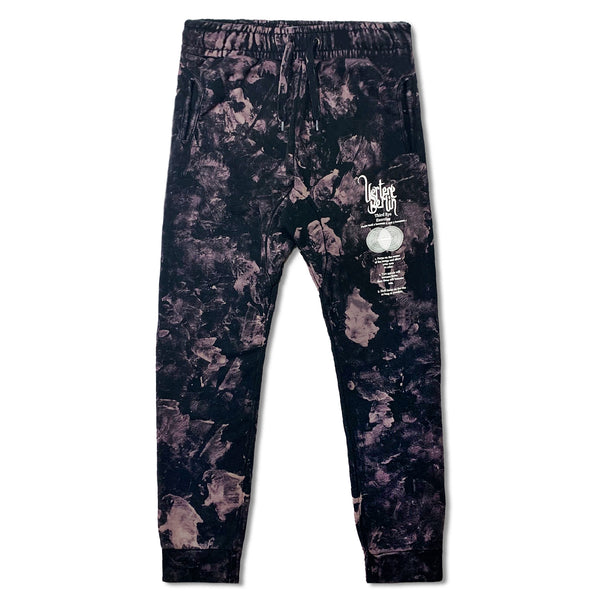 HYPER PLEASURE TIE DYE JOGGING PANTS - BLACK/PURPLE