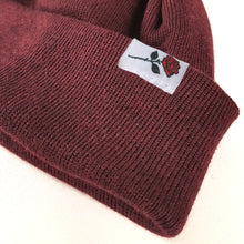 SHORT MERINO BEANIE ROSE - BORDEAUX