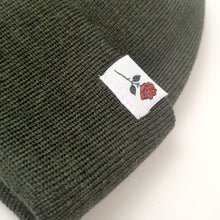 SHORT MERINO BEANIE ROSE - DARK-GREEN