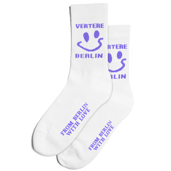 TENNIS SOCKS ACID SMILEY - WHITE