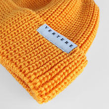 SHORT WOOL BEANIE - YELLOW