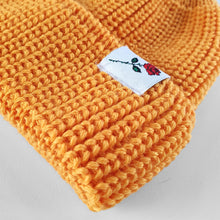 SHORT WOOL BEANIE ROSE - YELLOW