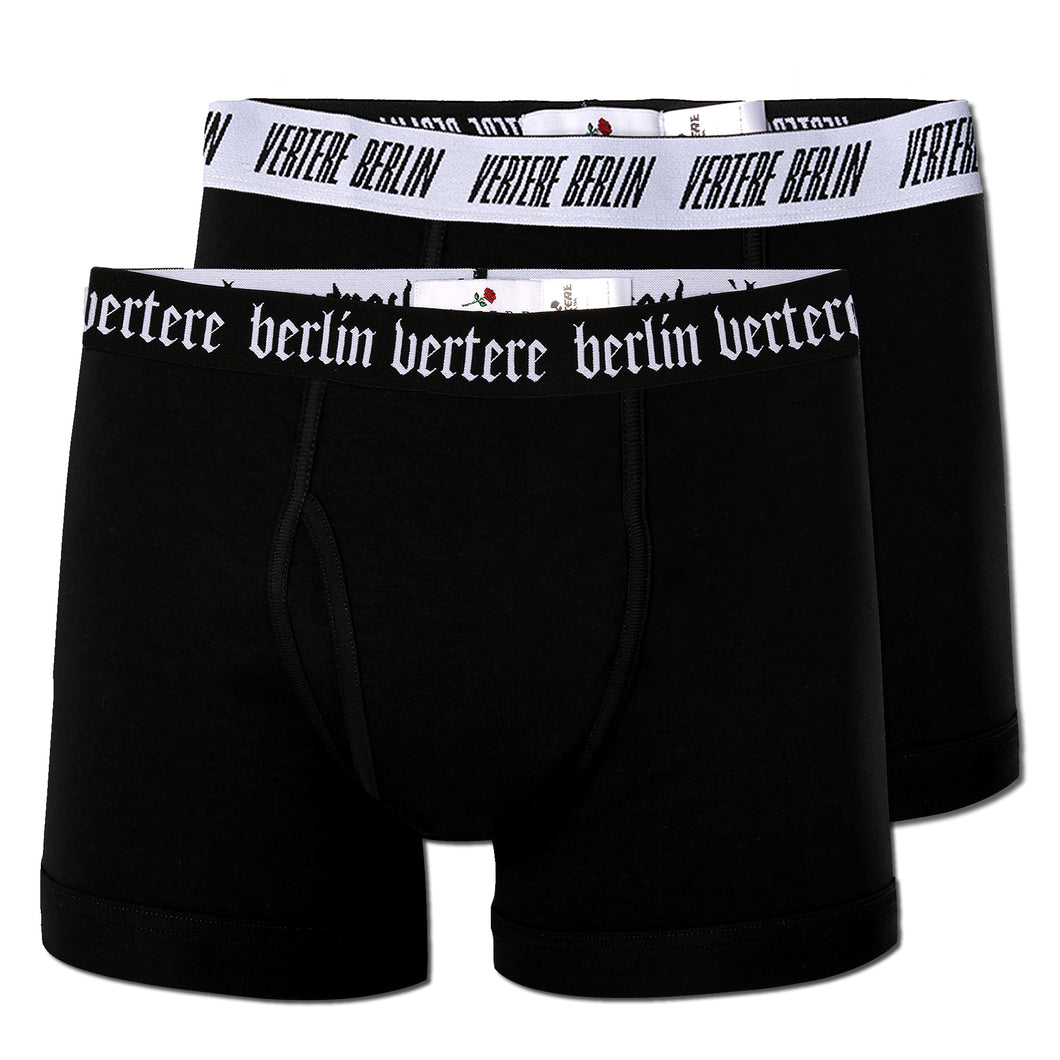 TWO PACK VERTERE BERLIN BOXER BRIEFS - BLACK/WHITE