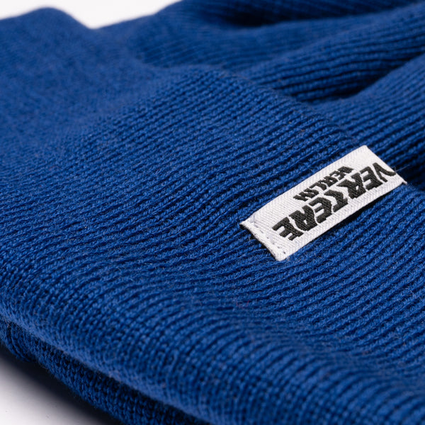 SHORT WOOL FINE KNIT BEANIE CITY - ROYAL