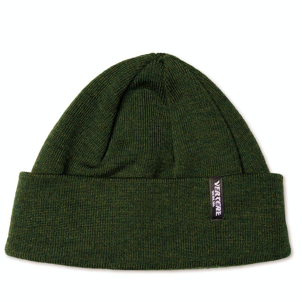 SHORT MERINO BEANIE CITY - DARK-GREEN