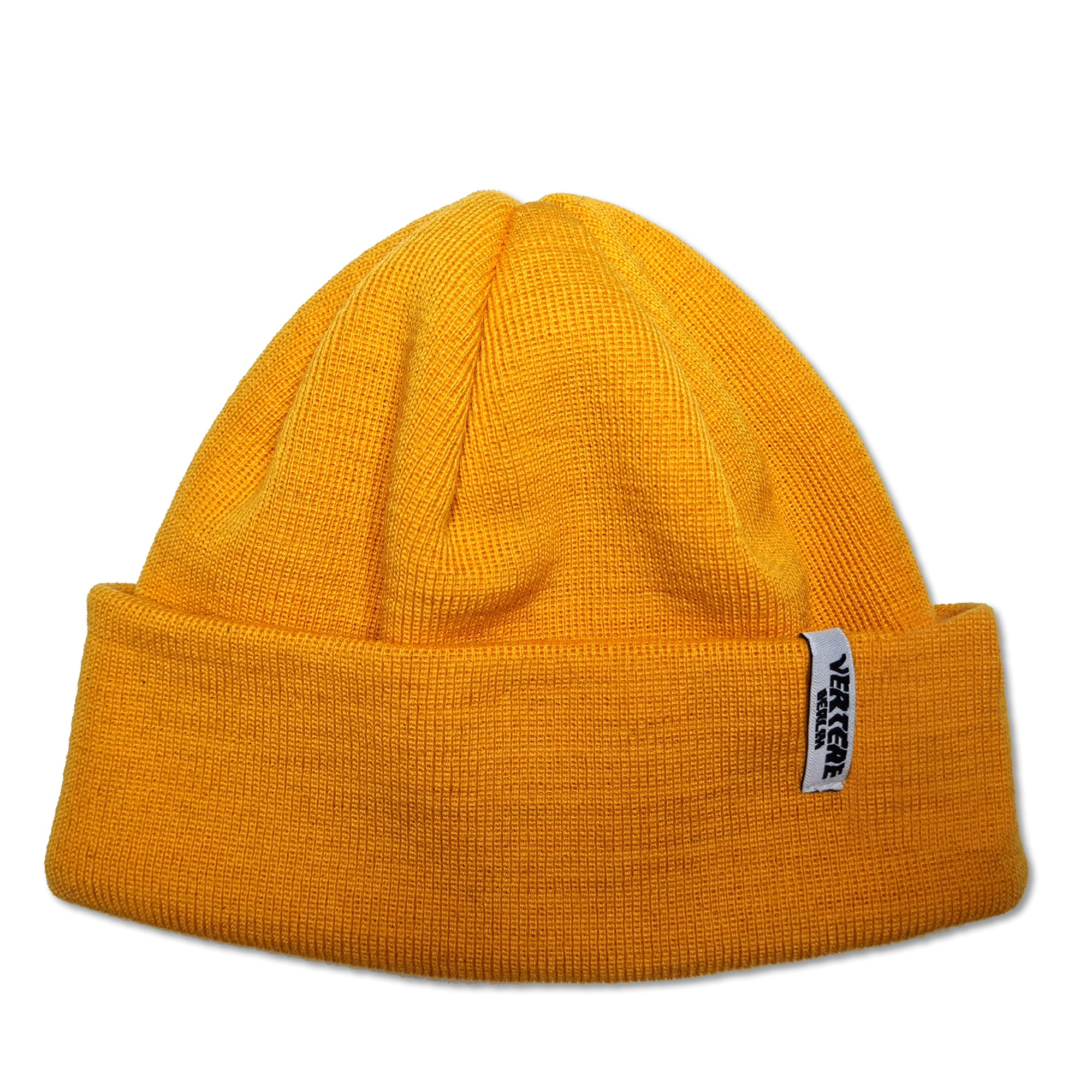 SHORT WOOL FINE KNIT BEANIE CITY - YELLOW