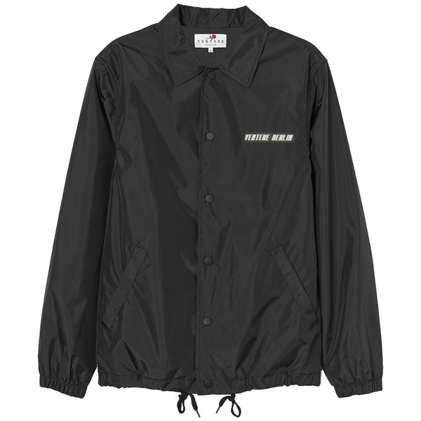RUBBER PATCH COACH JACKET - BLACK