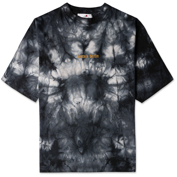 ULTRA HEAVY OVERSIZE ACID T-SHIRT - BLACK/GREY