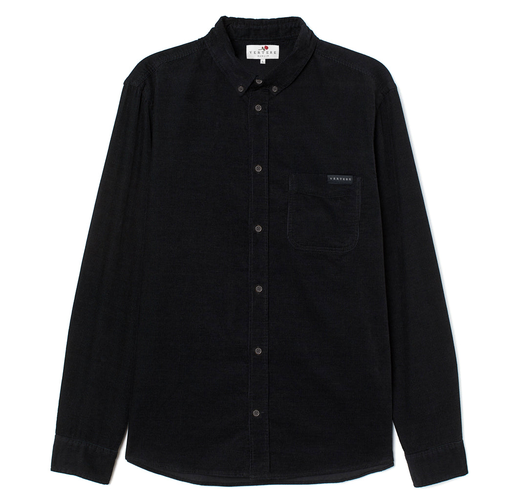 CORDUROY DRESS SHIRT - BLACK