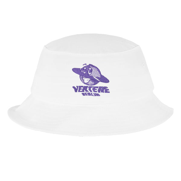 GLOBE BUCKET HAT - WHITE