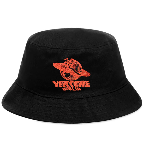 GLOBE BUCKET HAT - BLACK