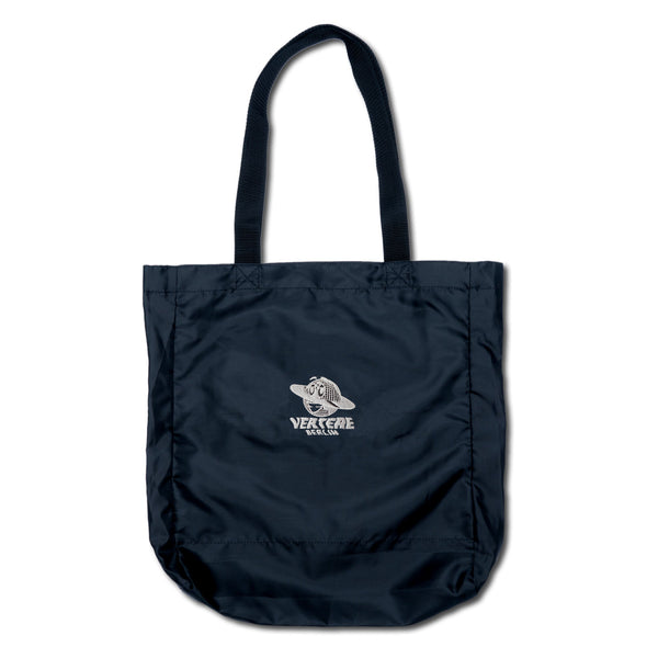 GLOBE NYLON SHOPPER BAG - BLACK