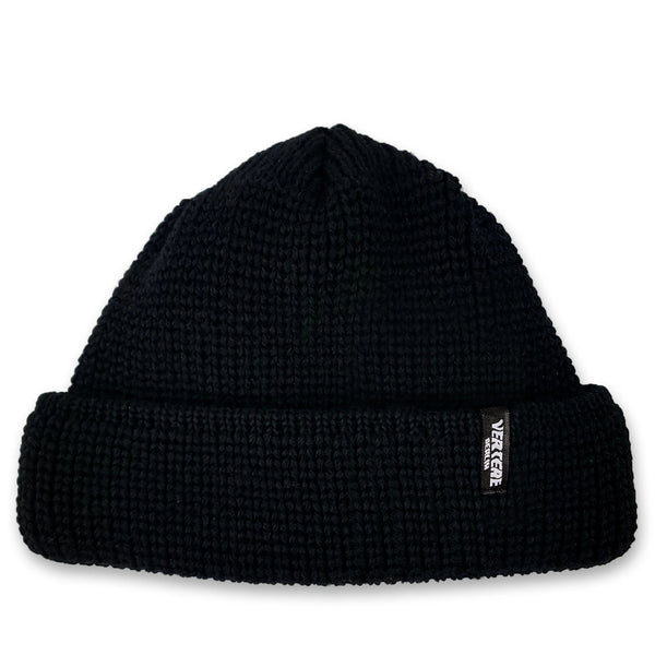 SHORT WOOL BEANIE CITY - BLACK