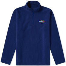 FLEECE ZIP SWEATER VERTERE UNITED - ROYAL
