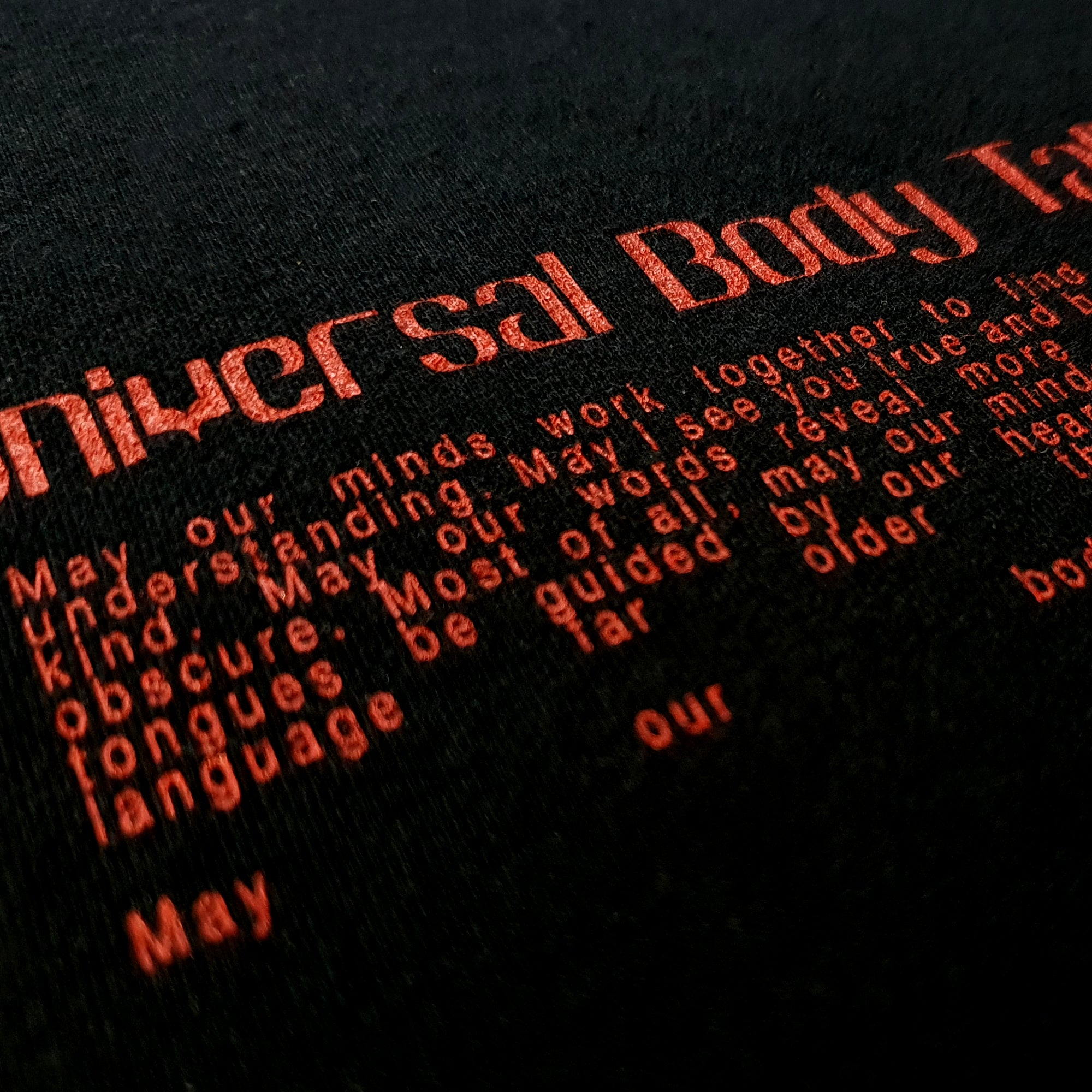 UNIVERSAL BODY TALK T-SHIRT - BLACK