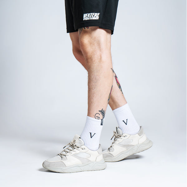 TENNIS SOCKS V - WHITE