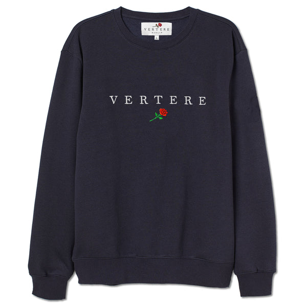 VERTERE ROSE SWEATER - NAVY
