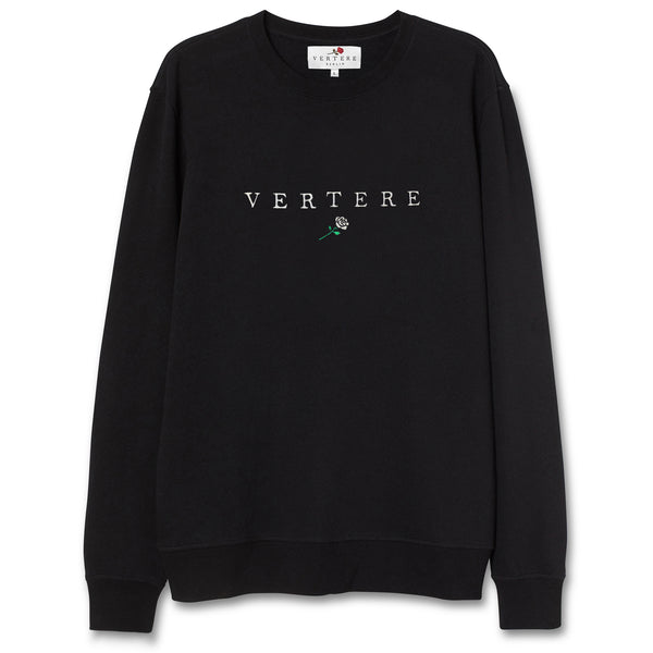 VERTERE ROSE SWEATER - BLACK