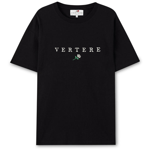 VERTERE ROSE T-SHIRT - BLACK