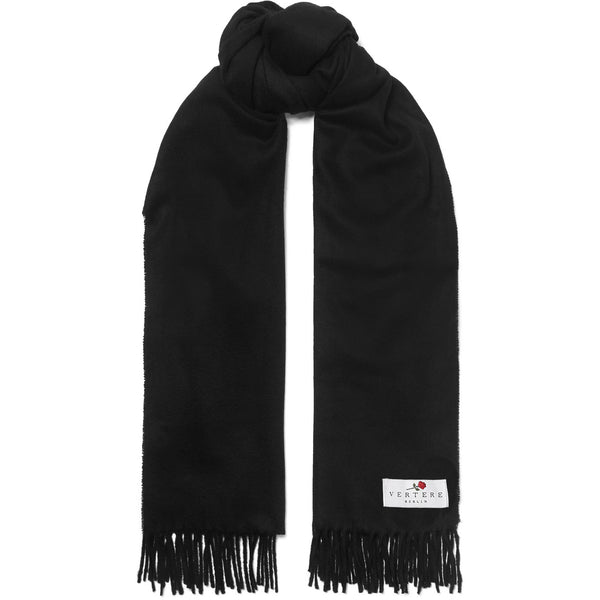 OVERSIZED WOOL SCARF - BLACK