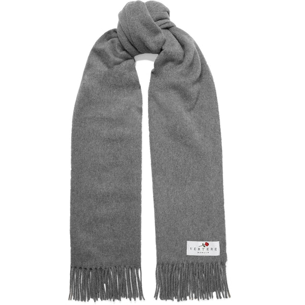 OVERSIZED WOOL SCARF - GREY