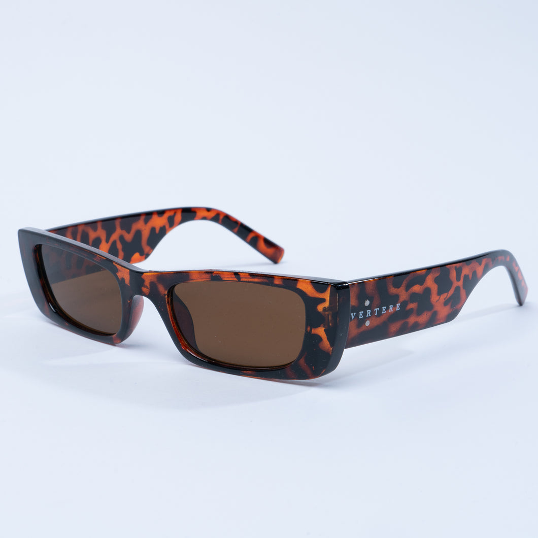 90s RECTANGLE SUNGLASSES - BROWN