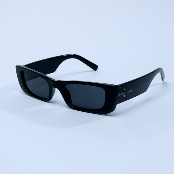 90s RECTANGLE SUNGLASSES - BLACK