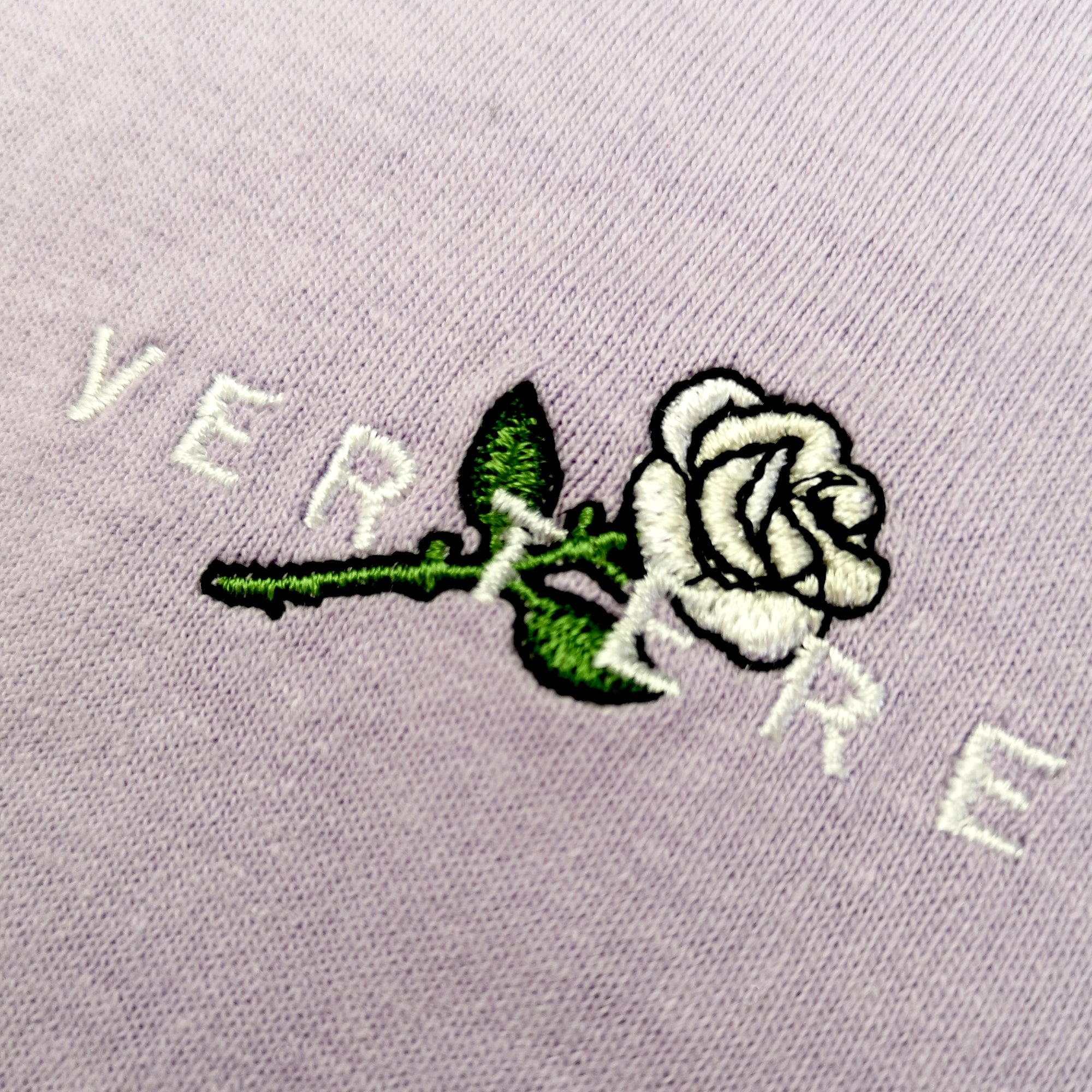 CROSSED ROSE T-SHIRT - LIGHTPURPLE