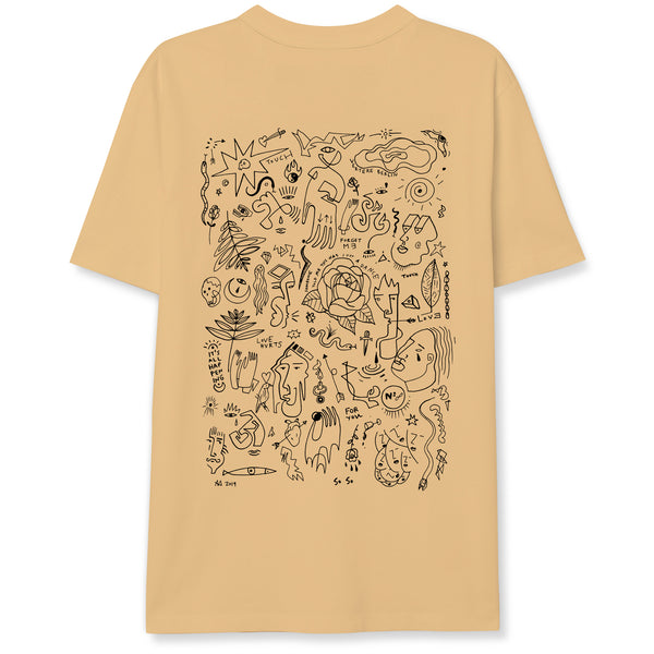 FLASH TATTOO T-SHIRT - PEACH