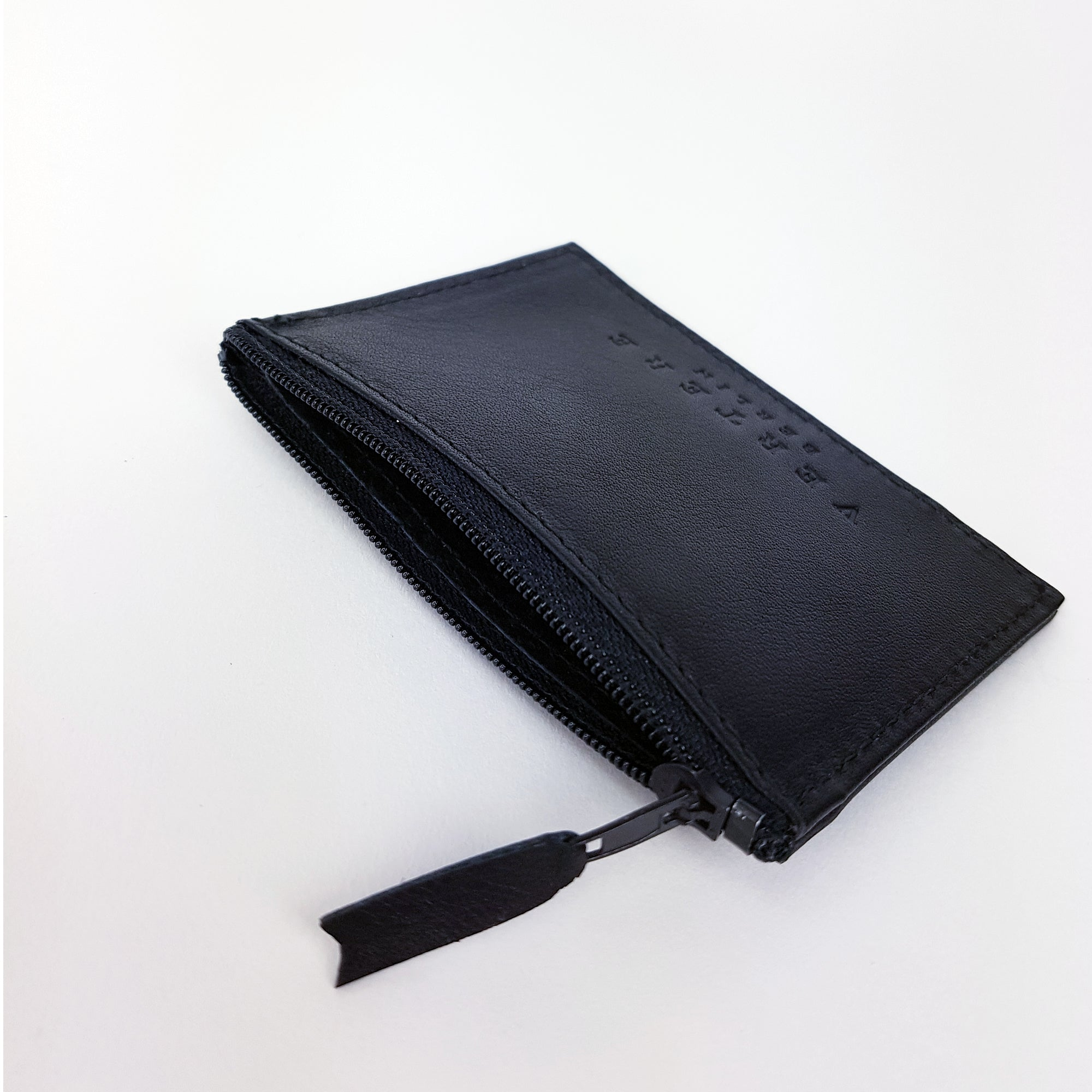 LEATHER WALLET - BLACK