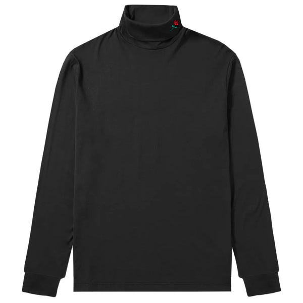 TURTLENECK ROSE LONGSLEEVE - BLACK