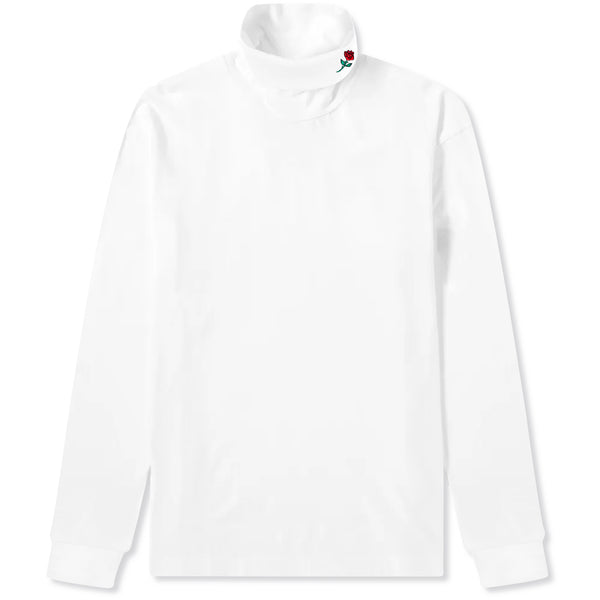 TURTLENECK ROSE LONGSLEEVE - WHITE