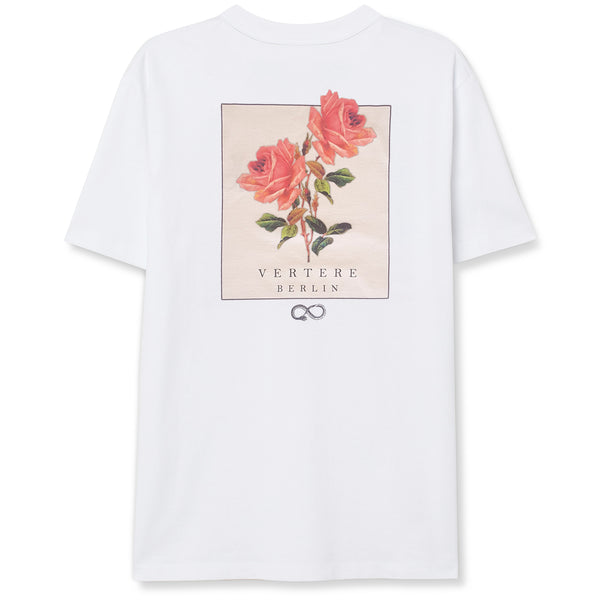 TWIN ROSES T-SHIRT - WHITE