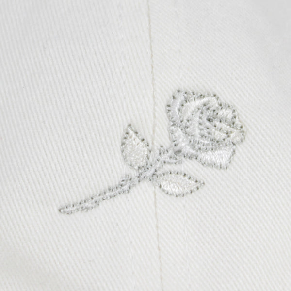 WHITE ROSE CAP - WHITE