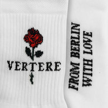 TENNIS SOCKS ROSES - WHITE