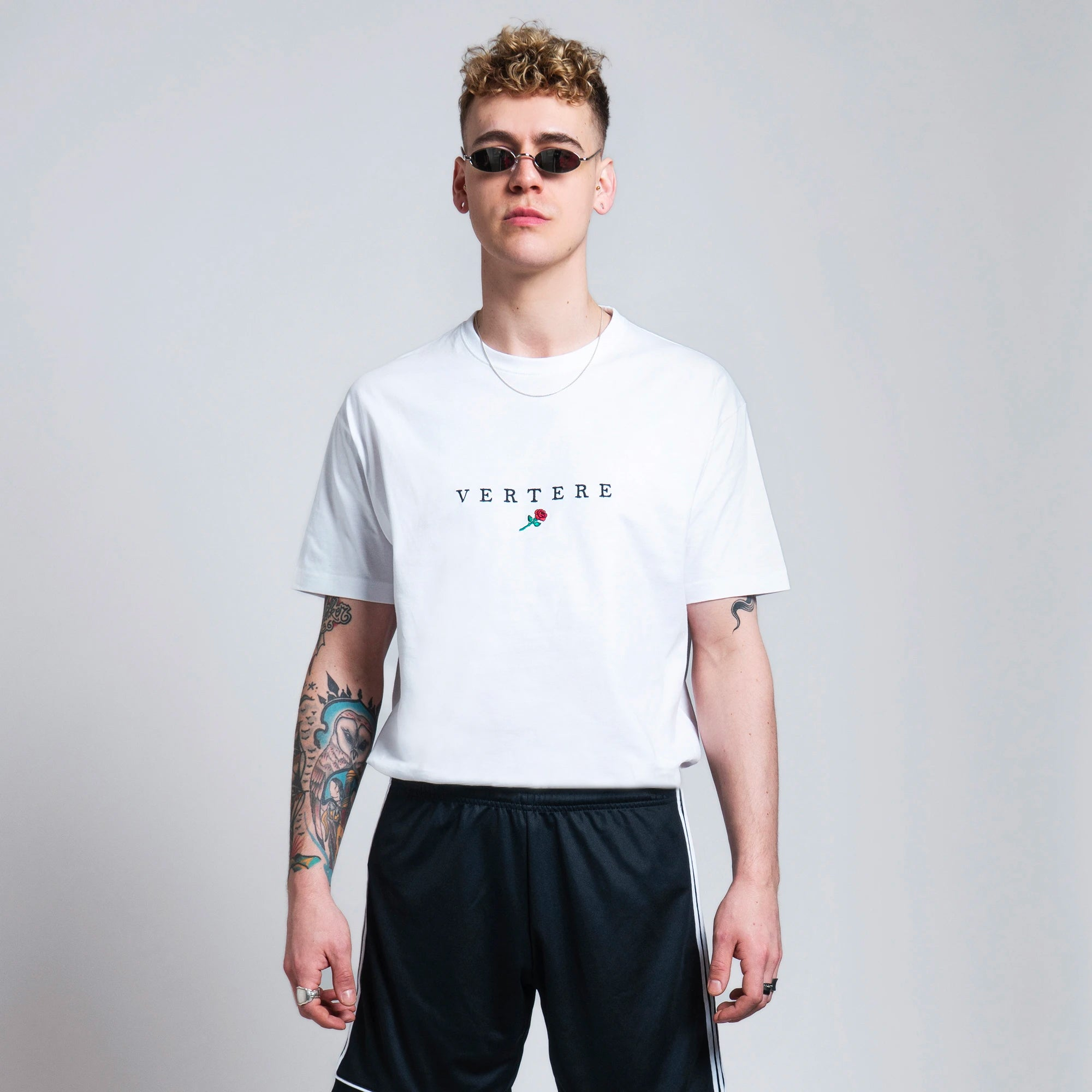 VERTERE ROSE T-SHIRT - WHITE