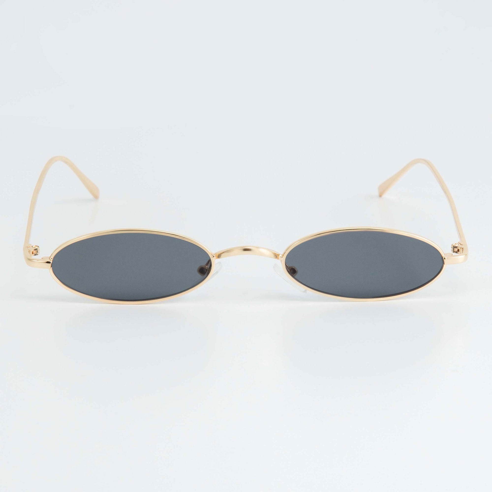 SLIM RAVE SUNGLASSES INCL. CHAIN - BLACK / GOLD